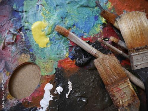Fotografie, Obraz  painting art tools creativ painting brush creative