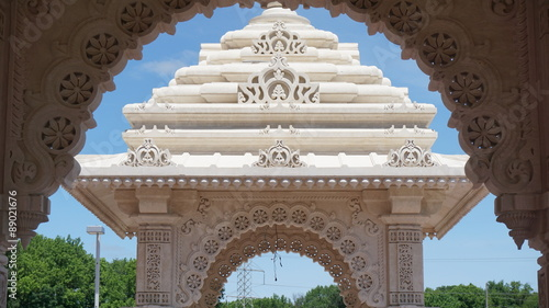 Photo  The Akshardham temple in Robbinsville, New Jersey