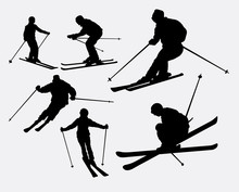 Skiing Sport Silhouette