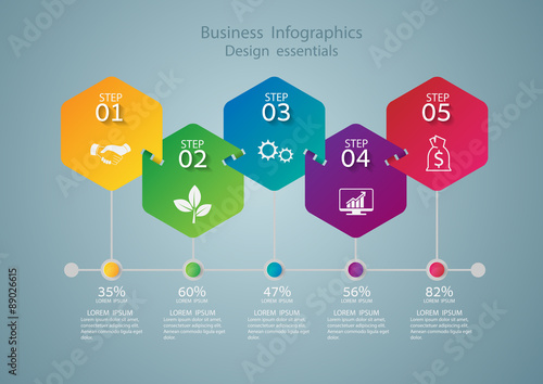 Fotografie, Tablou  Infographic design template and marketing icons, Business concep