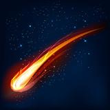 Comet, vector illustration