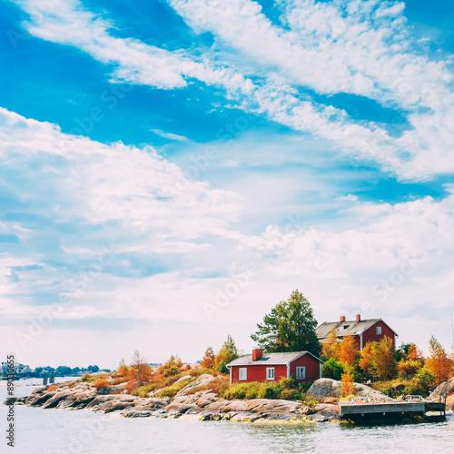 Poster Scandinavie Pier, Harbour And Quay, Island Near Helsinki, Finland.