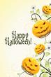 Leinwandbild Motiv Abstract Halloween Background with Flowers