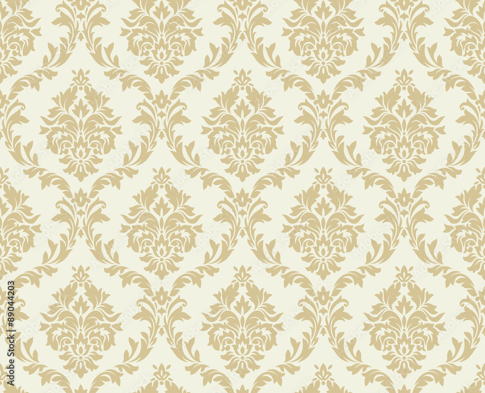 Vector seamless damask pattern