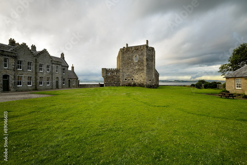 Blackness Castle is a boat shaped fortress, Scotland, UK Wallpaper Mural