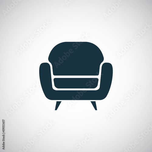 Photo armchair icon