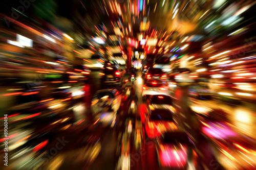 Obraz Godziny szczytu, abstrakcja - fototapety do salonu