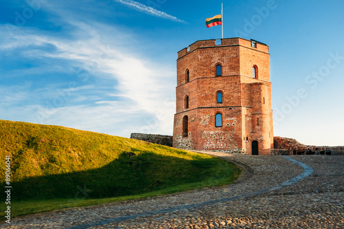 Tower Of Gediminas - Gedimino - In Vilnius, Lithuania.