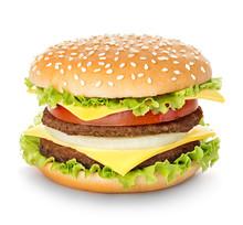 Royal Hamburger Isolated.