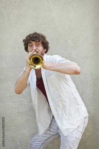 Jazz Trumpet Wallpaper Mural