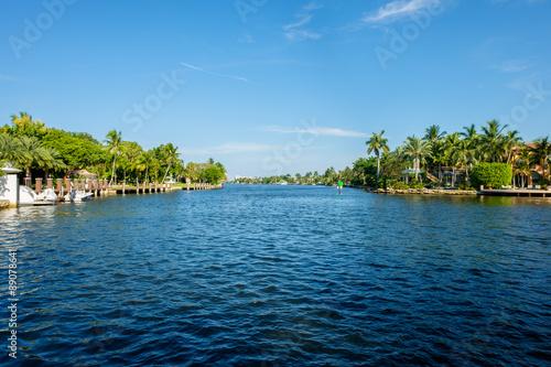 Canvas Print Fort Lauderdale Waterway