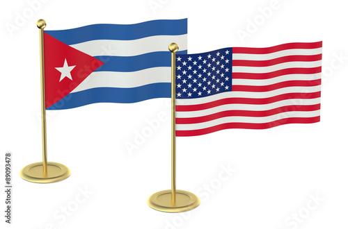 Fotografie, Obraz  meeting USA with Cuba concept