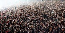 Crowd Of Blurred People