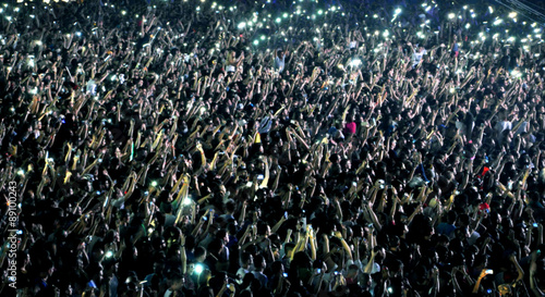Plakat Niewyraźne tłum na koncercie