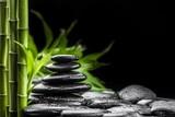 Fototapeta Bamboo - zen stones