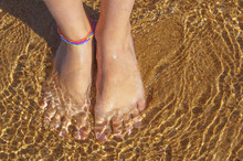 Barefoot In Sea