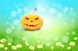 Leinwandbild Motiv Halloween Background with Pumpkin