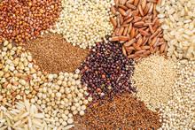 Gluten Free Grains Background ...
