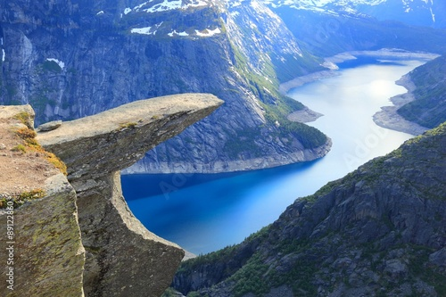 Stickers pour porte Scandinavie Trolltunga, Norway