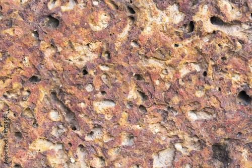 In de dag Stenen clastic sedimentary rock, old red wall texture