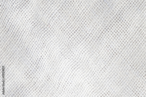 Fotografie, Obraz  High resolution white and light gray texture of gauze background