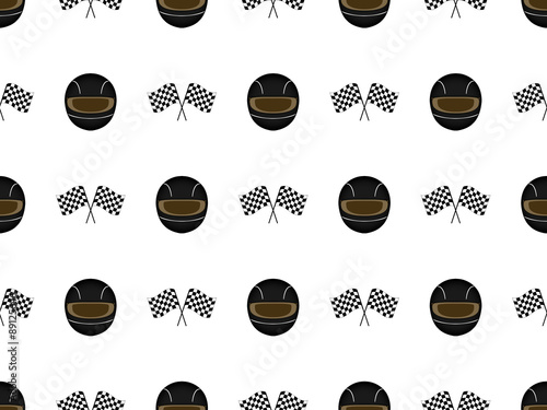 Fotografía  Racing Background Seamless Pattern 3 Black