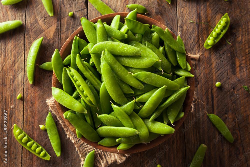 Fototapety, obrazy: Organic Green Sugar Snap Peas
