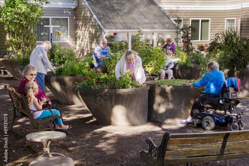 Plakat Assisted Living Gardening Group