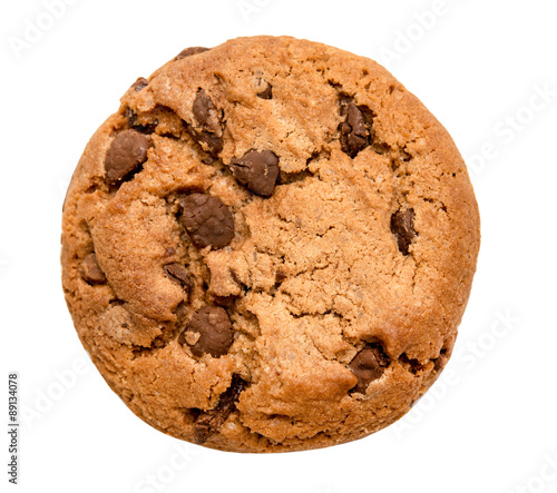 Foto auf Gartenposter Kekse chocolate chip cookie