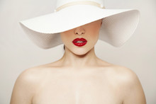 Red Lips And White Hat