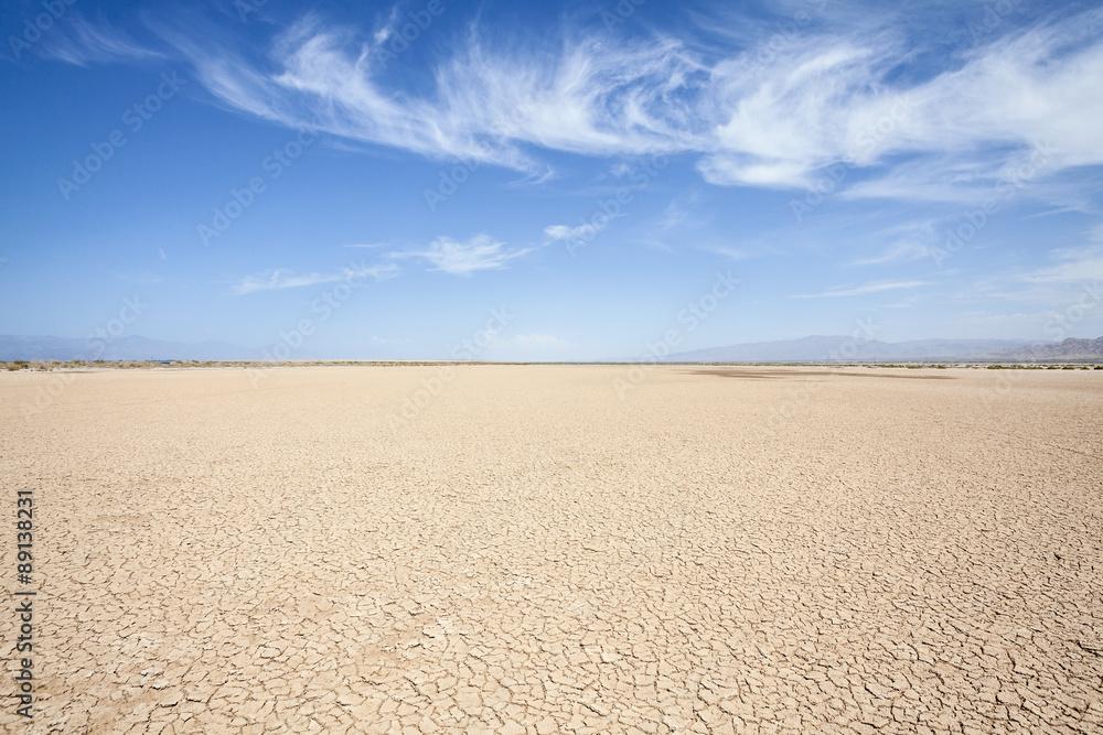 Fototapeta California Desert Dry Lake