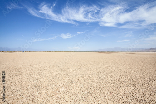 Poster Secheresse California Desert Dry Lake