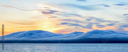 Foto  Clouds blanket islands in Alaska's inside passage