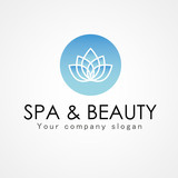 flower abstract vector logo design template. Spa & Beauty creative idea. Asian culture concept symbol icon