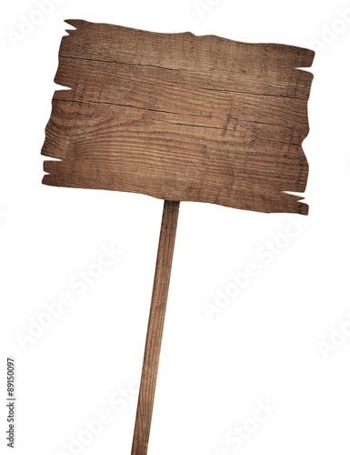 Fotografie, Obraz  Staré zvětralé dřevěné znamení