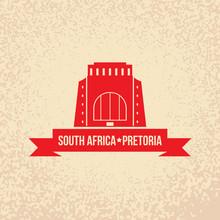 Vector Silhouette Of Pretoria,...