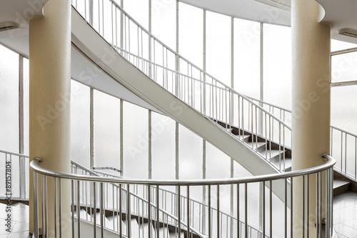 Foto op Canvas Trappen Treppenhaus Treppe