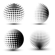 3D Vector Halftone Spheres