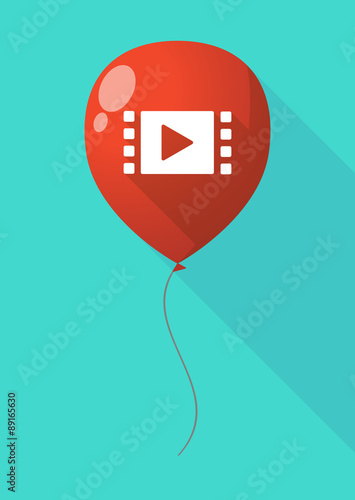 Photo  Long shadow balloon with a multimedia sign