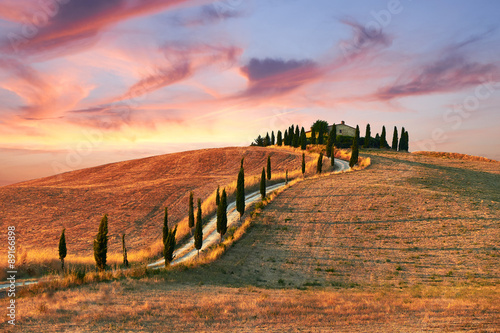 Printed kitchen splashbacks Tuscany Tuscany Landscape