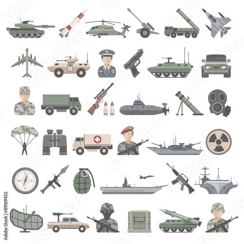 Fotografía  Flat Icons -  Army