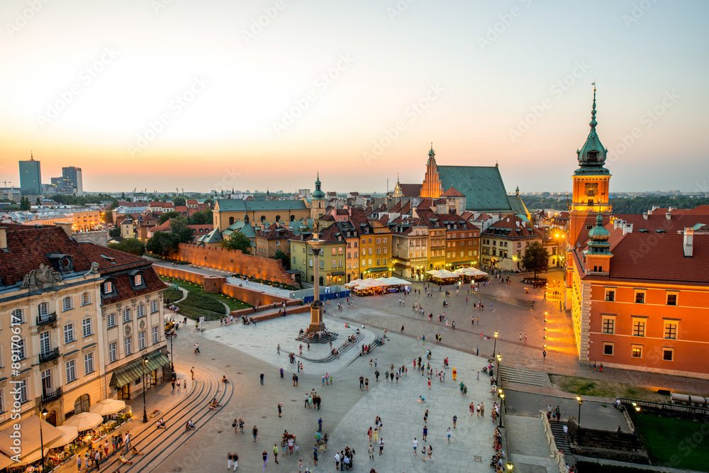 Fototapety, obrazy: Top view of the old town in Warsaw