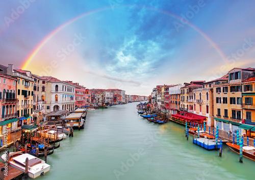 Poster Venice Grand Canal - Venice from Rialto bridge