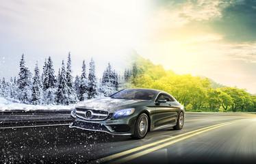 2 seasons on the road car