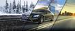 Leinwanddruck Bild - 4 seasons on the road car