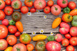 Background from fresh tomatoes