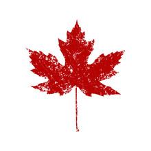 Autumnal Maple Leaf Splash Silhouette
