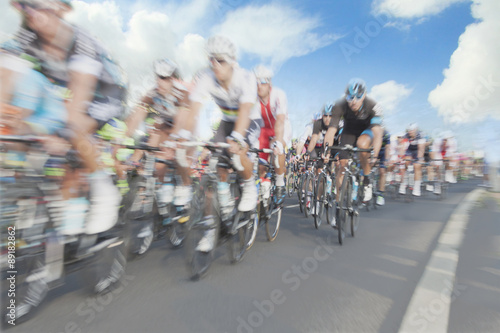 Foto op Aluminium Cyclists, motion blur