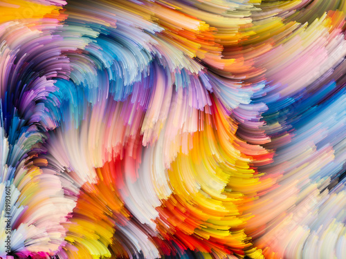 Unfolding of Color Canvas Print