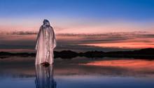 Waling On Water Jesus Christ